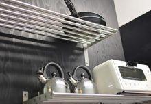 キッチン・水切棚の様子。