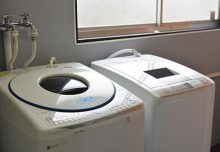 洗濯機の様子。