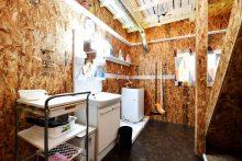 洗濯機・独立洗面台のスペース。