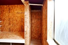 28号室の収納スペースの様子。