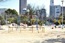 市岡元町公園の様子。
